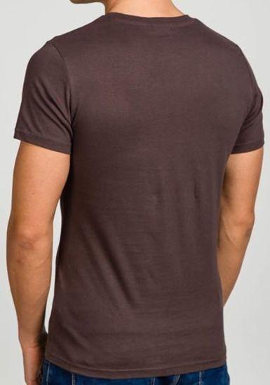 T-shirt męski z nadrukiem grafitowy Denley 7442
