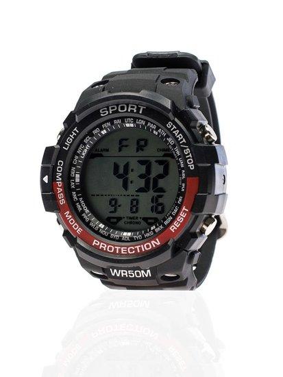Zegarek męski na rękę czarno-bordowy Denley 8352