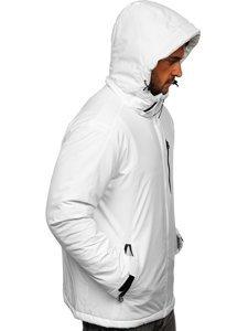 Biała narciarska kurtka męska zimowa sportowa Denley HH011