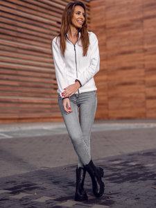 Biała polarowa bluza damska Denley HH002