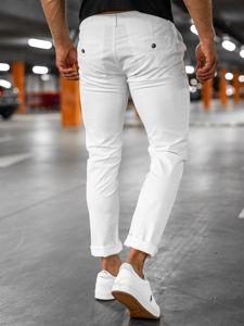 Białe spodnie chinosy męskie Denley 1146-1