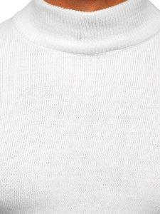 Biały sweter męski golf Denley 4600