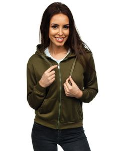 Bluza damska z kapturem khaki Denley WB1005