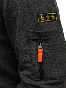 Bluza męska bez kaptura antracytowa Denley 0733