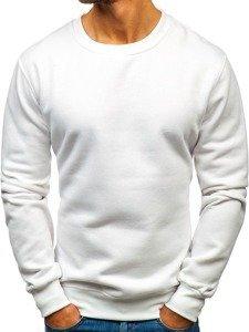 Bluza męska bez kaptura biała Bolf BO-01