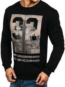 Bluza męska bez kaptura czarna Denley 1229