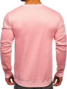 Bluza męska bez kaptura jasnoróżowa Denley 2001