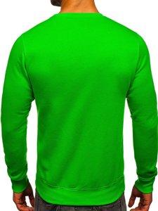 Bluza męska bez kaptura jasnozielona Denley 2001