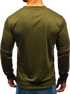 Bluza męska bez kaptura khaki Denley 22003
