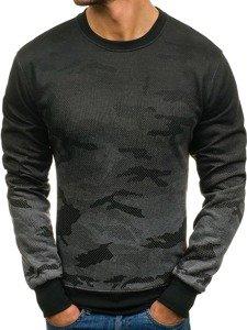 Bluza męska bez kaptura moro-grafitowa Denley DD132-2