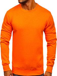 Bluza męska bez kaptura pomarańczowa Denley 2001