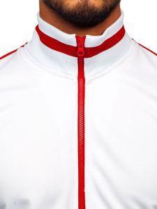 Bluza męska bez kaptura rozpinana retro style biała Bolf 2126