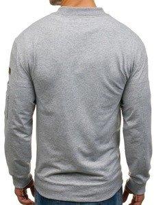 Bluza męska bez kaptura szara Denley 0733