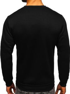 Bluza męska bez kaptura z nadrukiem żółta Denley HY605