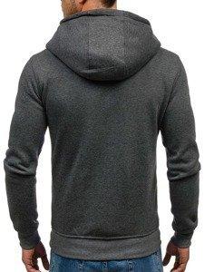 Bluza męska z kapturem antracytowa Bolf Y10