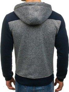 Bluza męska z kapturem antracytowa Denley TC07