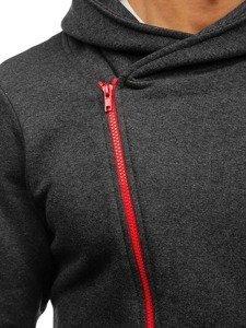 Bluza męska z kapturem antracytowo-czerwona Bolf 05S