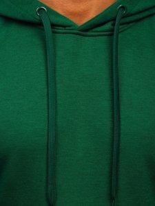 Bluza męska z kapturem ciemnozielona kangurka Denley 2009