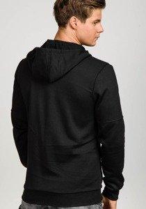 Bluza męska z kapturem czarna Denley 2838
