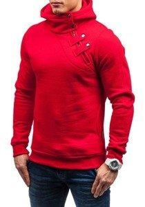Bluza męska z kapturem czerwona Denley MARIO