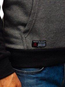 Bluza męska z kapturem grafitowa Denley KS1804