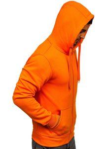 Bluza męska z kapturem pomarańczowa Denley 2008