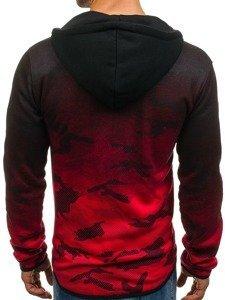 Bluza męska z kapturem rozpinana czerwona Denley DD84