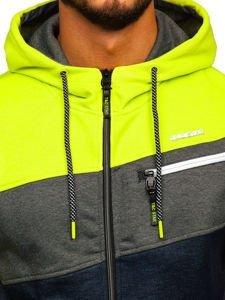 Bluza męska z kapturem rozpinana multikolor Denley 2103B