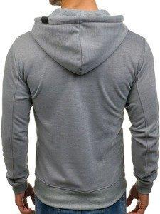 Bluza męska z kapturem szara Denley 2097