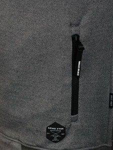 Bluza męska z kapturem szaro-czarna Denley 3633