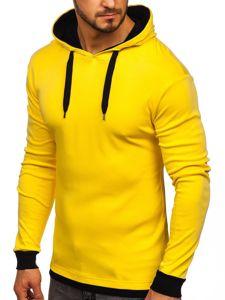 Bluza męska z kapturem zółta Bolf 145380