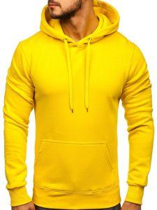 Bluza męska z kapturem żółta Denley 2009