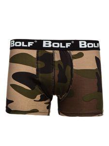 Bokserki męskie khaki Bolf 0953-2-3P 3 PACK