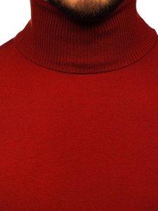 Ciemnoczerwony golf sweter męski bez nadruku Denley YY02
