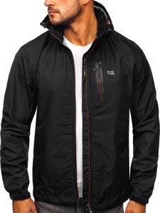 Czarna kurtka męska przejściowa sportowa Denley BK029