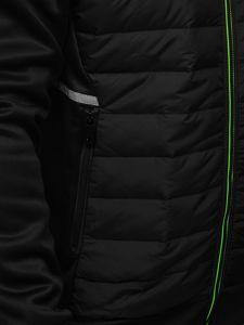Czarna przejściowa kurtka męska Denley KS2146