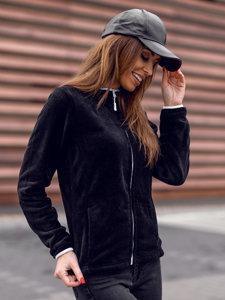 Czarno-biała polarowa bluza damska Denley HH002