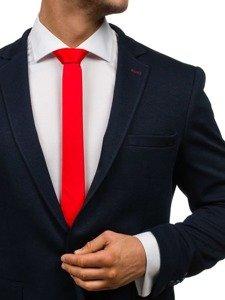 Elegancki krawat męski czerwony Denley K001