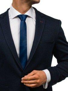 Elegancki krawat męski granatowy Denley K001