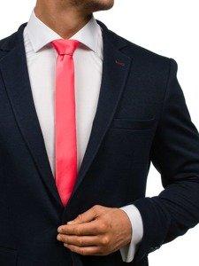 Elegancki krawat męski koralowy Denley K001