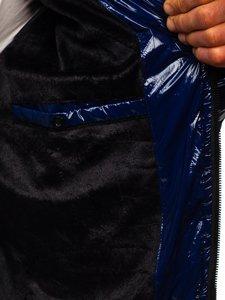 Granatowa pikowana kurtka męska zimowa Denley 6463