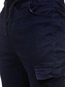 Granatowe spodnie joggery bojówki męskie Bolf 11104