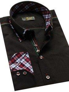 Koszula męska elegancka z długim rękawem czarna Bolf 2701
