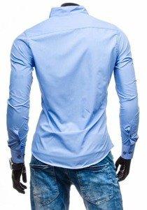 Koszula męska z długim rękawem błękitna Bolf 5720-1
