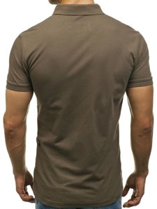 Koszulka polo męska khaki Denley 2056