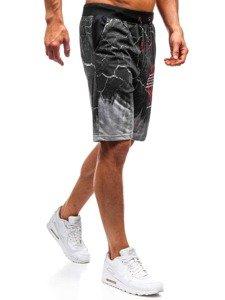 Krótkie spodenki dresowe męskie szare Denley 300112