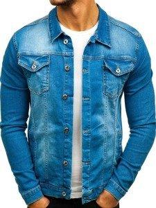 Kurtka jeansowa męska niebieska Denley 2052-1