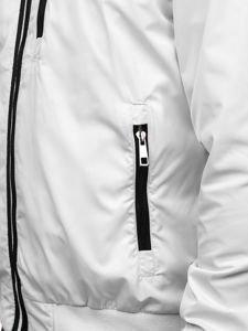 Kurtka męska przejściowa biała Bolf K01
