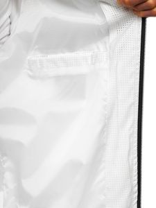 Kurtka męska przejściowa bomberka biała Denley 6119