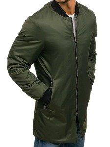Kurtka męska przejściowa bomberka zielona Denley 1023